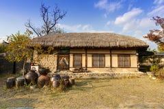 Традиционный корейский дом, Южная Корея Стоковое Фото