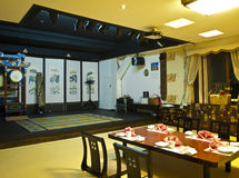 Традиционный корейский ресторан музыки Стоковое Изображение RF