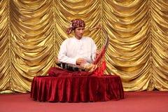 Традиционный музыкант в Мьянме Стоковые Фотографии RF