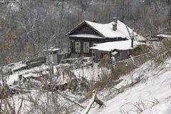 Традиционный дом в России Стоковая Фотография RF