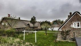 Традиционный дом в Sonderho на датском острове Fano стоковое фото