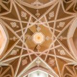Традиционный дом khan-e Abbasian в Kashan, Иране Стоковые Изображения RF
