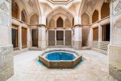 Традиционный дом khan-e Abbasian в Kashan, Иране Стоковые Изображения