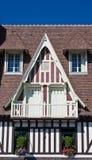 Традиционный дом, Trouville-sur-Mer Стоковые Изображения RF