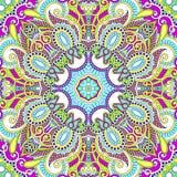 Традиционный орнаментальный флористический пестрый платок Пейсли бесплатная иллюстрация