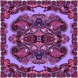 Традиционный орнаментальный флористический пестрый платок Пейсли Стоковые Изображения RF