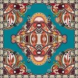Традиционный орнаментальный флористический пестрый платок Пейсли Стоковая Фотография