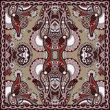 Традиционный орнаментальный флористический пестрый платок Пейсли Стоковое Фото