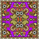 Традиционный орнаментальный флористический пестрый платок Пейсли Стоковое Изображение