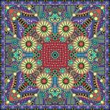 Традиционный орнаментальный флористический пестрый платок Пейсли Стоковые Изображения