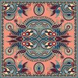 Традиционный орнаментальный флористический пестрый платок Пейсли Стоковое фото RF