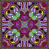 Традиционный орнаментальный флористический пестрый платок Пейсли Стоковые Фото