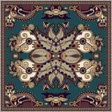 Традиционный орнаментальный флористический пестрый платок Пейсли Стоковое Изображение RF