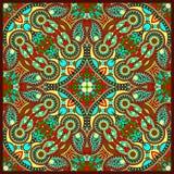Традиционный орнаментальный флористический пестрый платок Пейсли Стоковые Фотографии RF