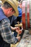 Традиционный отжимать вина Стоковое фото RF