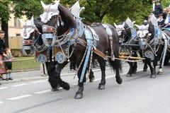 Традиционный парад костюма в Баварии Мюнхена Стоковые Изображения