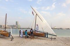 Традиционный парусник в Абу-Даби Стоковое Изображение