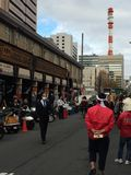 Традиционный продовольственный рынок в токио Стоковая Фотография RF