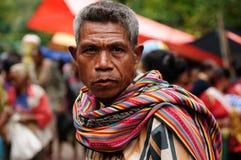 Традиционный племенной рынок на острове Тиморе, Индонезии Стоковое фото RF
