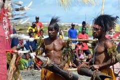 Традиционный племенной танец на фестивале маски Стоковое Фото