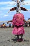 Традиционный племенной танец на фестивале маски Стоковые Фото