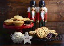 Традиционный плодоовощ рождества семенит пироги Стоковое Изображение