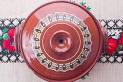 Традиционный румынский керамический бак Стоковое Изображение RF