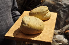 Традиционный ручной работы сыр: копченая рикотта Стоковая Фотография RF