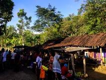 Традиционный рынок Javanese в Wonogori Стоковые Изображения