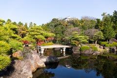 Традиционный сад Kokoen в городе Himeji Японии Стоковое фото RF