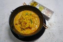 Традиционный северный суп Khao Soi Таиланда Стоковая Фотография