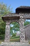 Традиционный строб в Maramures, Румынии Стоковая Фотография
