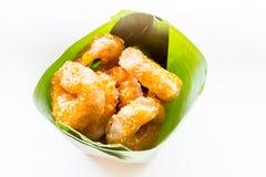 Традиционный тайский донут (ka-nom-wong) десерт тайский Стоковая Фотография RF