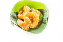 Традиционный тайский донут (ka-nom-wong) десерт тайский Стоковые Изображения