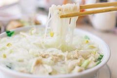 Традиционный тайский суп лапши Стоковое фото RF
