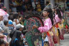 Традиционный танец Индонезии Стоковое Изображение