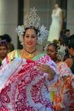 Традиционный танцор Панамы стоковое изображение rf