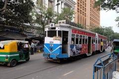 Традиционный трамвай в Kolkata стоковые изображения rf