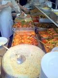 Традиционный турецкий общественный ресторан с местными сваренными едами Стоковые Фотографии RF