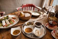 Традиционный турецкий Anatolian завтрак Стоковое Изображение RF