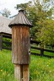 Традиционный украинский деревянный улей Стоковые Фотографии RF