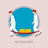 Традиционный фестиваль голландского сыра в Алкмаре Стоковое Фото