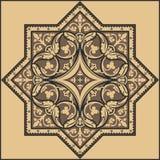 Традиционный флористический орнамент - картина Стоковое Изображение RF