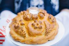 Традиционный хлебец с солью Стоковое Изображение RF