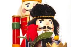 Традиционный Щелкунчик рождества Figurine Стоковое Фото