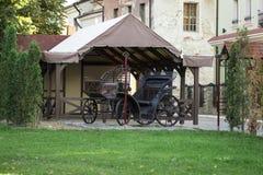 Традиционный экипаж лошади Естественная предпосылка Стоковое фото RF