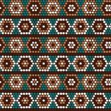 Традиционный этнический африканский орнамент вектор картины безшовный E Стоковое Фото