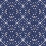 Традиционный японский орнамент вышивки Romby Sashiko вектор Стоковое фото RF