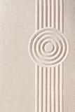 Традиционный японский сад Дзэн песка Стоковое фото RF