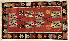 Традиционный handmade турецкий ковер Стоковые Фото